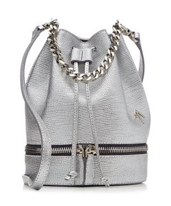 Manu Atelier | Zeal Embossed Leather Bucket Bag Gr. One Size