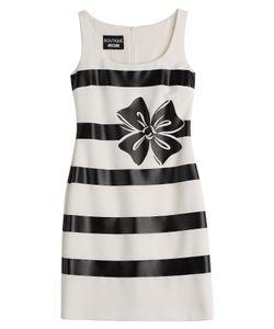 BOUTIQUE MOSCHINO | Bow Print Striped Sheath Dress Gr. 40