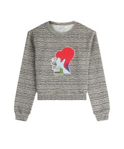 Carven | Printed Cotton Sweatshirt Gr. S