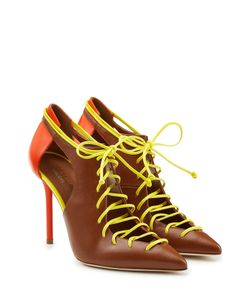 MALONE SOULIERS | Leather Lace-Up Pumps With Cutouts Gr. 40