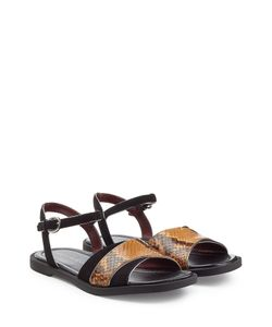 Marc by Marc Jacobs | Embossed Leather And Suede Flat Sandals Gr. 36