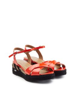 Sonia Rykiel | Patent Leather Sandals With Raffia Gr. 36
