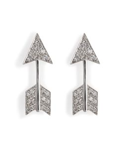 Anita Ko | 18kt White Gold Arrow Earrings With Diamonds Gr. One Size