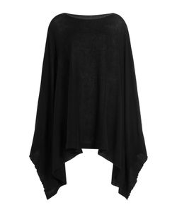 Rick Owens | Cotton-Cashmere Knit Cape Gr. M
