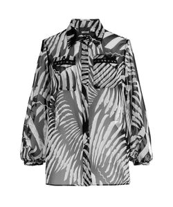 Just Cavalli | Printed Blouse With Cut-Out Shoulders Gr. 38