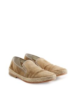 N.D.C. | Suede Loafers With Straw Midsole Gr. 42