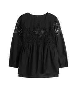 Velvet | Cotton-Blend Blouse With Lace Gr. M