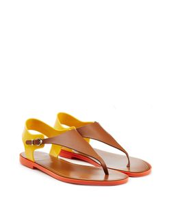 Sergio Rossi | Leather And Rubber Sandals Gr. 36