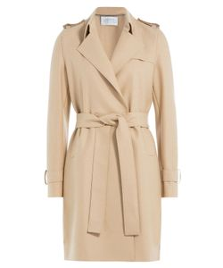 Harris Wharf | Wool Crepe Trench Coat Gr. 40