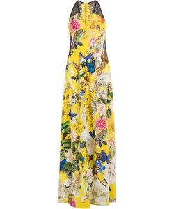 Roberto Cavalli | Printed Silk Maxi Dress Gr. 40