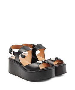 Carven | Embellished Leather Platform Sandals Gr. 36