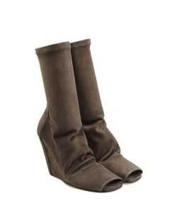 Rick Owens | Suede Boots With Open Toe Gr. 36