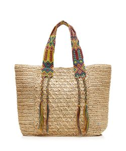 Florabella | Raffia Tote With Multicolored Straps Gr. One Size