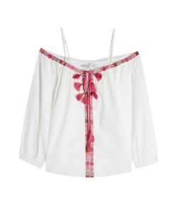 Christophe Sauvat | Embroidered Cotton Blouse Gr. L
