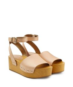 Sam Edelman | Leather Platform Sandals With Transparent Straps Gr. 36
