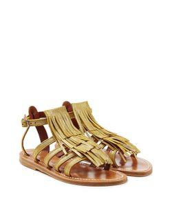 K. Jacques   Leather Sandals With Fringe Gr. 36