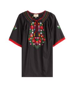 MUZUNGU SISTERS | Embroidered Cotton Top Gr. M