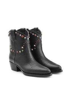 Valentino | Western Ankle Boots With Studded Trim Gr. It 36