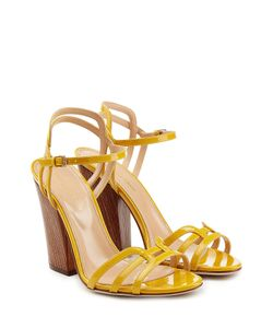 Sergio Rossi | Patent Leather Sandals With Wooden Heel Gr. It 36