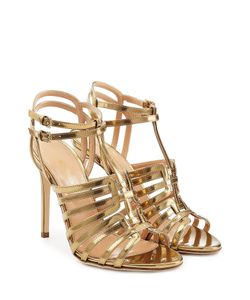 Sergio Rossi | Metallic Leather Sandals Gr. It 36