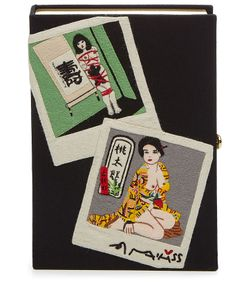 Olympia Le-Tan | Embroidered Araki Book Clutch Gr. One Size