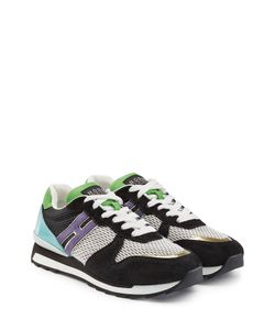 Hogan Rebel | Suede Leather And Mesh Sneakers Gr. It 36