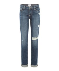 Paige | Distressed Straight Leg Jeans Gr. 30