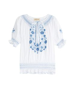 MUZUNGU SISTERS | Embroidered Cotton Peasant Top Gr. M