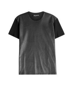 Neil Barrett | Cotton T-Shirt With Faux Leather Gr. M