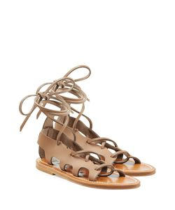 K. Jacques | Leather Lace-Up Sandals Gr. It 36