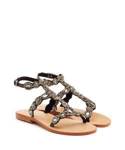 Mystique | Embellished Leather Sandals Gr. Fr 36