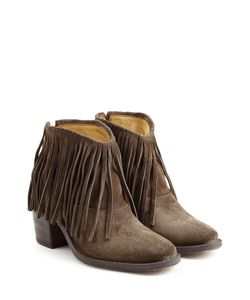 Fiorentini+Baker | Ramones Fringed Suede Ankle Boots Gr. It 36