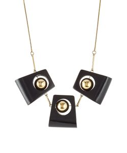 Marni | Statement Necklace With Wood Gr. One Size
