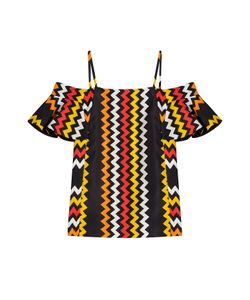 MSGM | Printed Off-The-Shoulder Satintop Gr. It 40