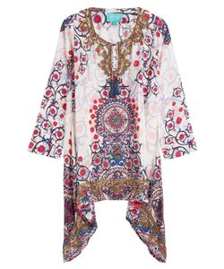Taj | Printed Silk Tunic With Beading Gr. S