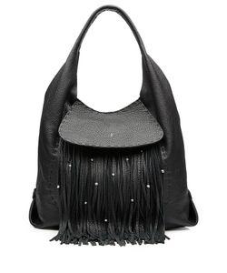 Henry Beguelin | Leather Fringe Hobo Bag Gr. One Size