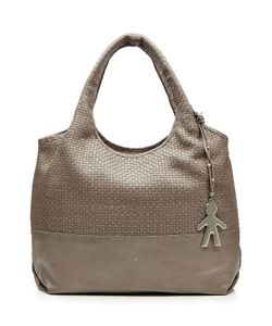 Henry Beguelin   Leather Tote With Woven Panel Gr. One Size