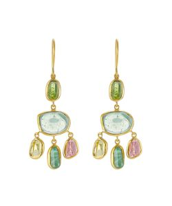 PIPPA SMALL | 18kt Yellow Gold Earrings With Tourmaline Gr. One Size