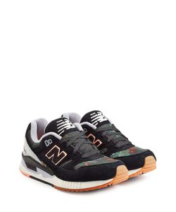 New Balance | Suede And Mesh Platform Sneakers Gr. Us 8