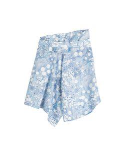 Carven | Asymmetric Print Skirt With Linen Gr. Fr 40