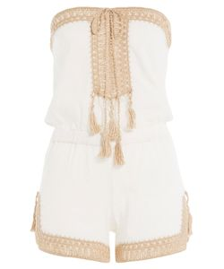 ANNA KOSTUROVA | Helena Cotton Playsuit With Crochet Gr. S