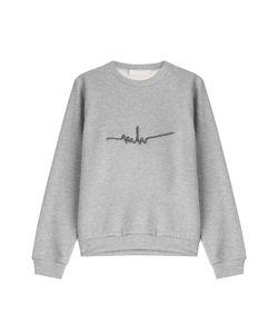 Marina Hoermanseder | Embroidered Cotton Blend Sweatshirt Gr. S