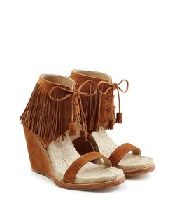 Paul Andrew | Fringed Suede Sandals Gr. It 38