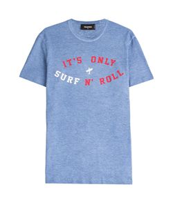 Dsquared2 | Printed Cotton T-Shirt With Linen Gr. S