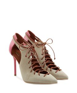 MALONE SOULIERS | Ronnie Suede Lace-Up Pumps With Cutouts Gr. It 36