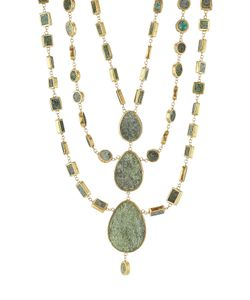 PIPPA SMALL | Gold Plated Silver Necklace With Chrysocolla Stones Gr. One Size