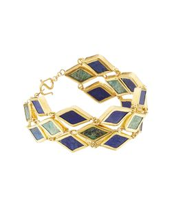 PIPPA SMALL | Gold Plated Silver Bracelet With Chrysocolla And Lapis Gr. One Size