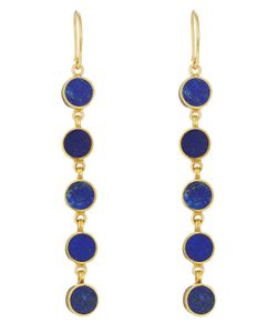 PIPPA SMALL | Gold Plated Silver Earrings With Lapis Stones Gr. One Size