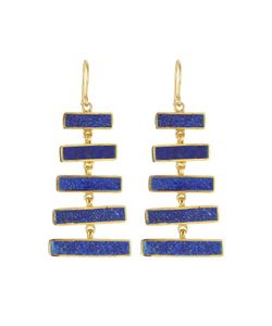 PIPPA SMALL | Gold Plated Silver Earrings With Lapis Gr. One Size