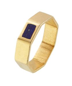 PIPPA SMALL | Gold Plated Silver Ring With Lapis Gr. One Size